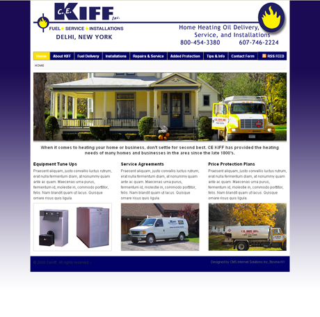 CE Kiff Home Heating Oil Delhi NY | Is Live!