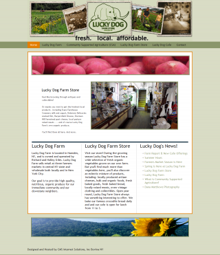 Lucky Dog Farm in Hamden – Site Launched!